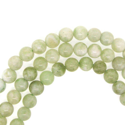 New Jade, Round Gemstone Beads, Smooth Surface, 6mm (Sold Per Strand)