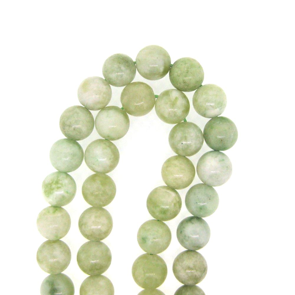 New Jade, Round Gemstone Beads, Smooth Surface, 8mm (Sold Per Strand)