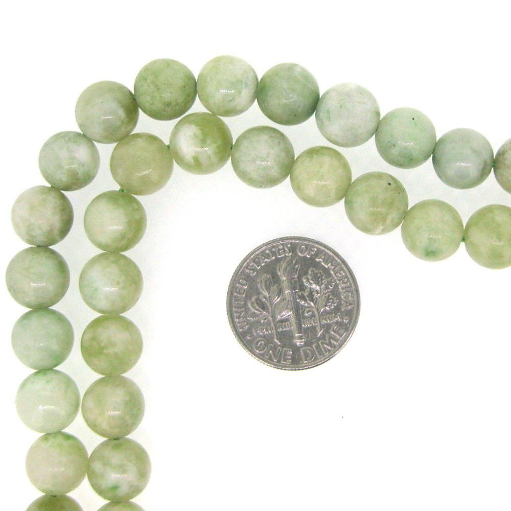 New Jade, Round Gemstone Beads, Smooth Surface, 8mm (Sold Per Strand)