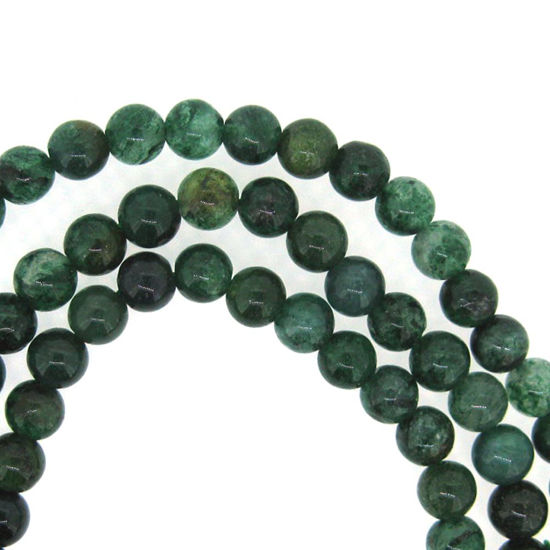 Green Quartz - Smooth Round Beads - 6mm (sold per strand)