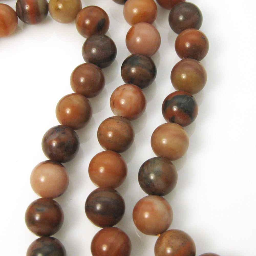 China Chalcedite - Smooth Round Beads - 10mm (sold per strand)