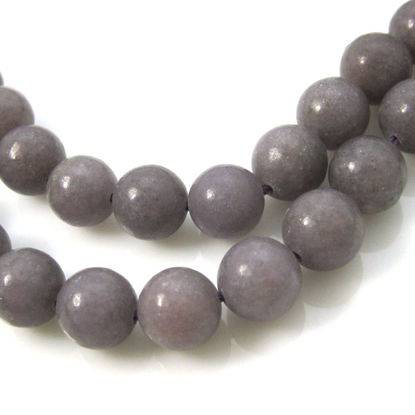 Lepidolite - Smooth Round Beads - 10mm (sold per strand)