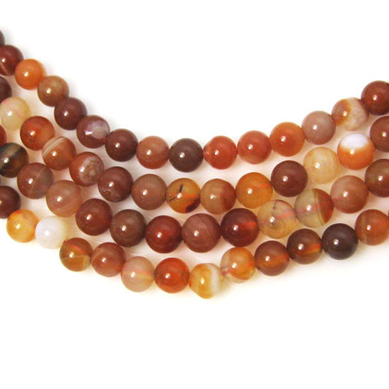 Red Agate Beads - Smooth Round 6mm (Sold Per Strand)