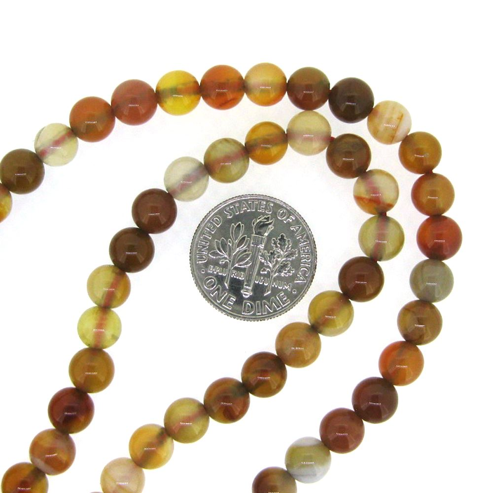 Carnelian - Smooth Round Beads - 6mm (sold per strand)