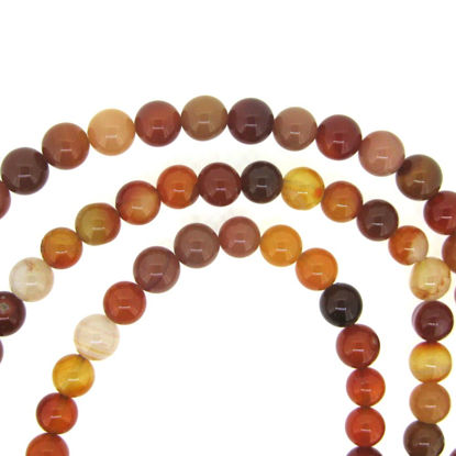Carnelian - Smooth Round Beads - 8mm (sold per strand)