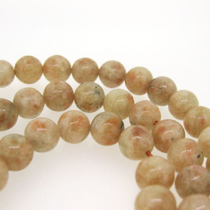 Sunstone - Smooth Round Beads - 8mm (sold per strand)