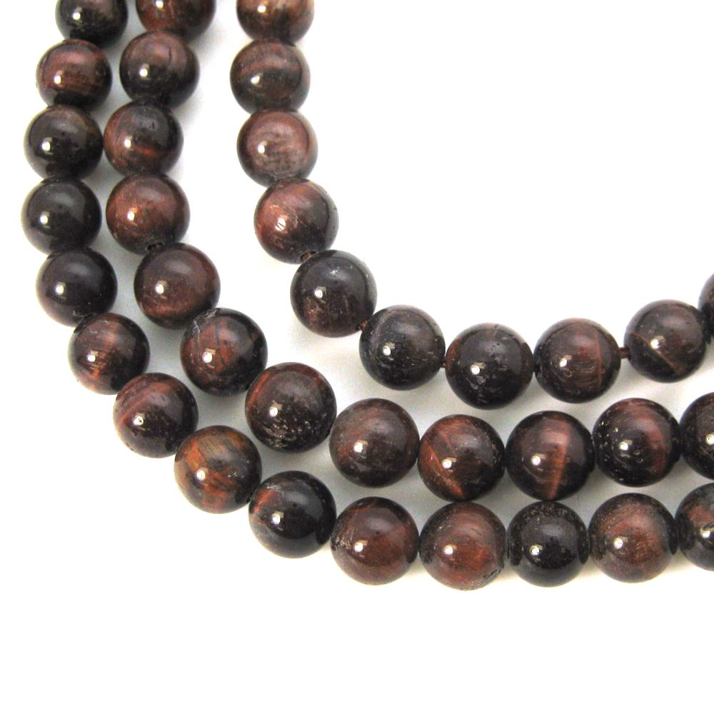 Dark Sunstone - Smooth Round Beads - 8mm (sold per strand)