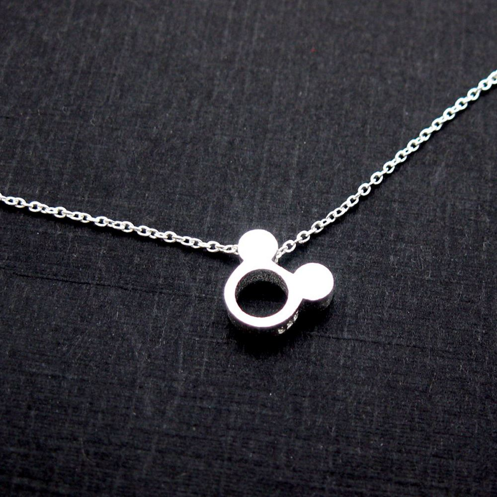 925 Sterling Silver Charm-Silver Mouse Ears Charm- Popular Mouse Bead- 9mm ( 2 pc)