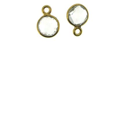 Gold Tiny Circle Pendants
