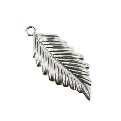 Sterling Silver Feather Charm 22mm (sold per 2 pieces)