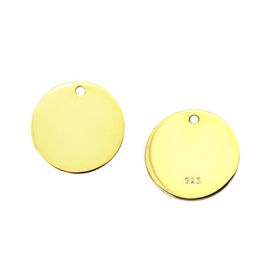 Gold Plated Sterling Silver Round Stamping Blanks 12mm