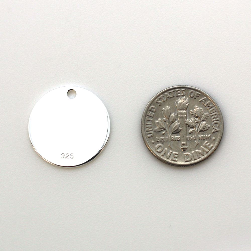 Sterling Silver Round Stamping Blank 18mm