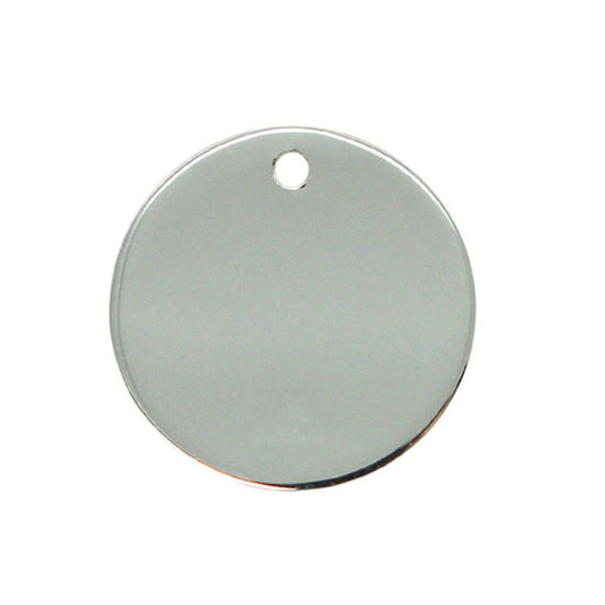 Sterling Silver Round Stamping Blank 25mm