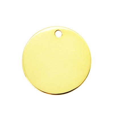 Gold Plated Sterling Silver Round Stamping Blank 25mm