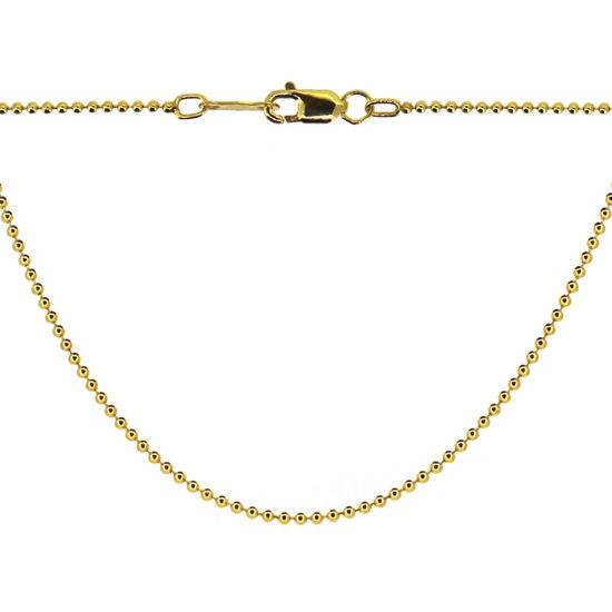 1/20 14K Gold Filled Ball Chain Necklace - Gold Bracelet Chain - Gold Anklet - 1.2mm Ball Chain - Beaded Necklace Chain