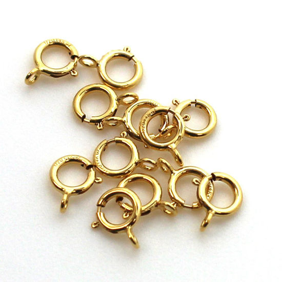 1/20 14K Gold Filled Spring Ring Clasps (Closed) - 5.5mm (pack of 5)