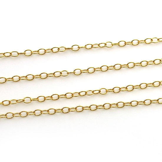 1/20 14K Gold Filled Chain- 2X1 Oblong Oval Chain - Unfinished Bulk Chain  (sold per foot)