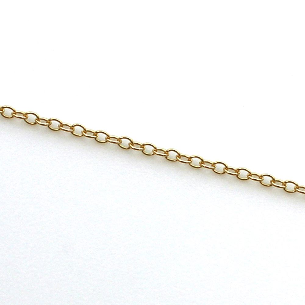 1/20 14K Gold Filled Chain, 925 Sterling Silver Bulk Chain - 2 by 1.5mm Cable Oval (sold per foot)