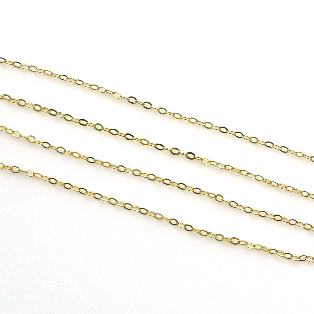 1/20 14K Gold Filled Chain-1.5X2 Cable Flat Oval Chain - Unfinished Bulk Chain  (sold per foot)