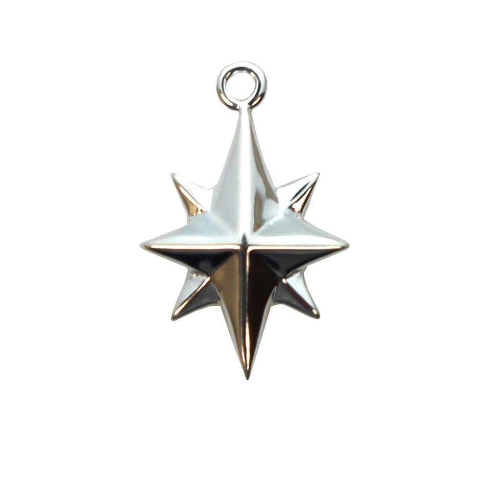 Sterling Silver Pink Quartz Diamond Pendant Solid 13 mm 20 mm Pendants /& Charms Jewelry