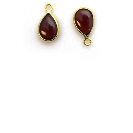 Gold Tiny Teardrop Natural Gemstone Pendants