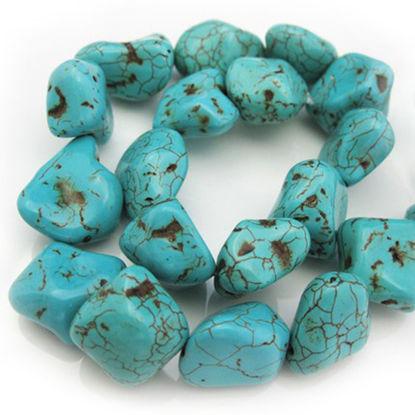 Blue Howlite Beads - Freeform Shape (sold per strand)