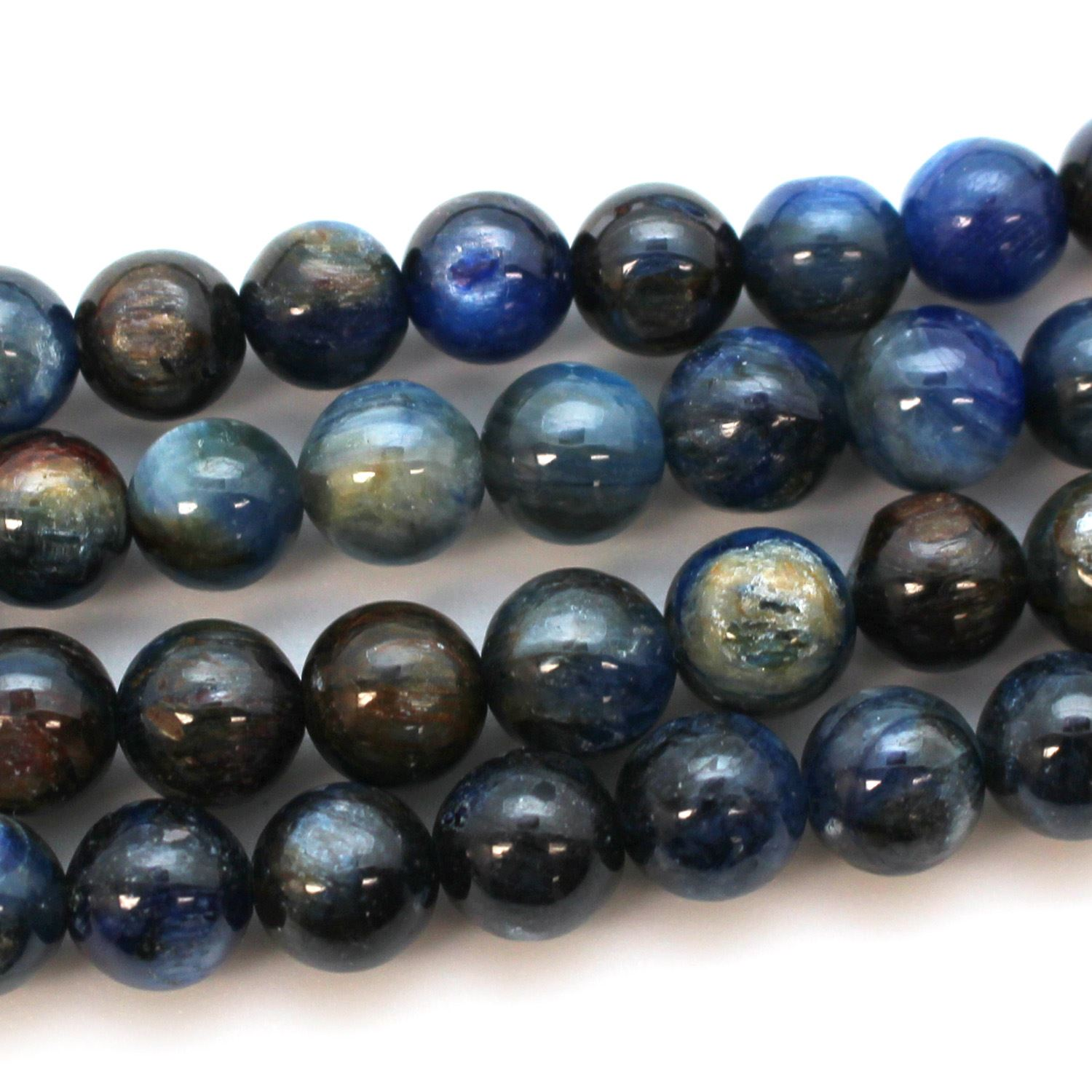 Smooth Round Kyanite Beads - 8mm (Sold Per Strand)