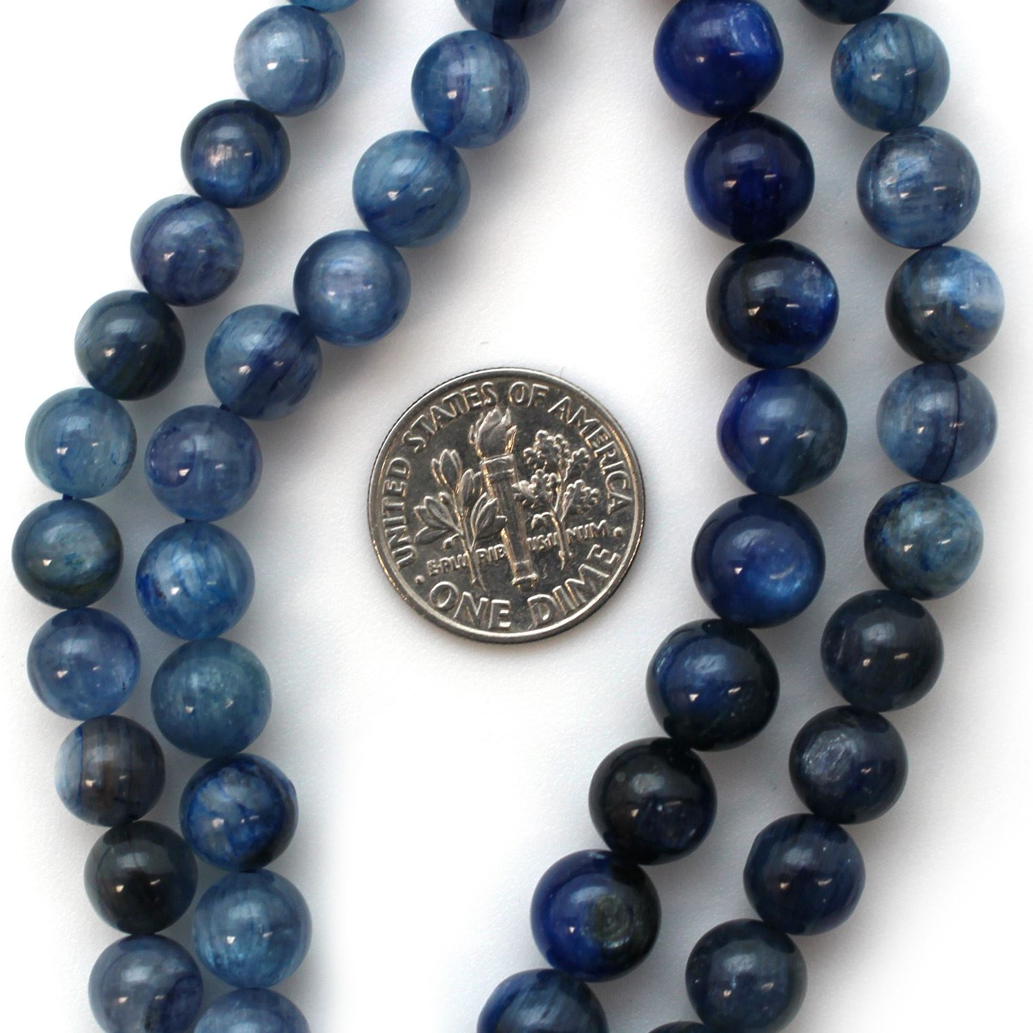 Smooth Round Kyanite Beads - 7.5mm (Sold Per Strand)