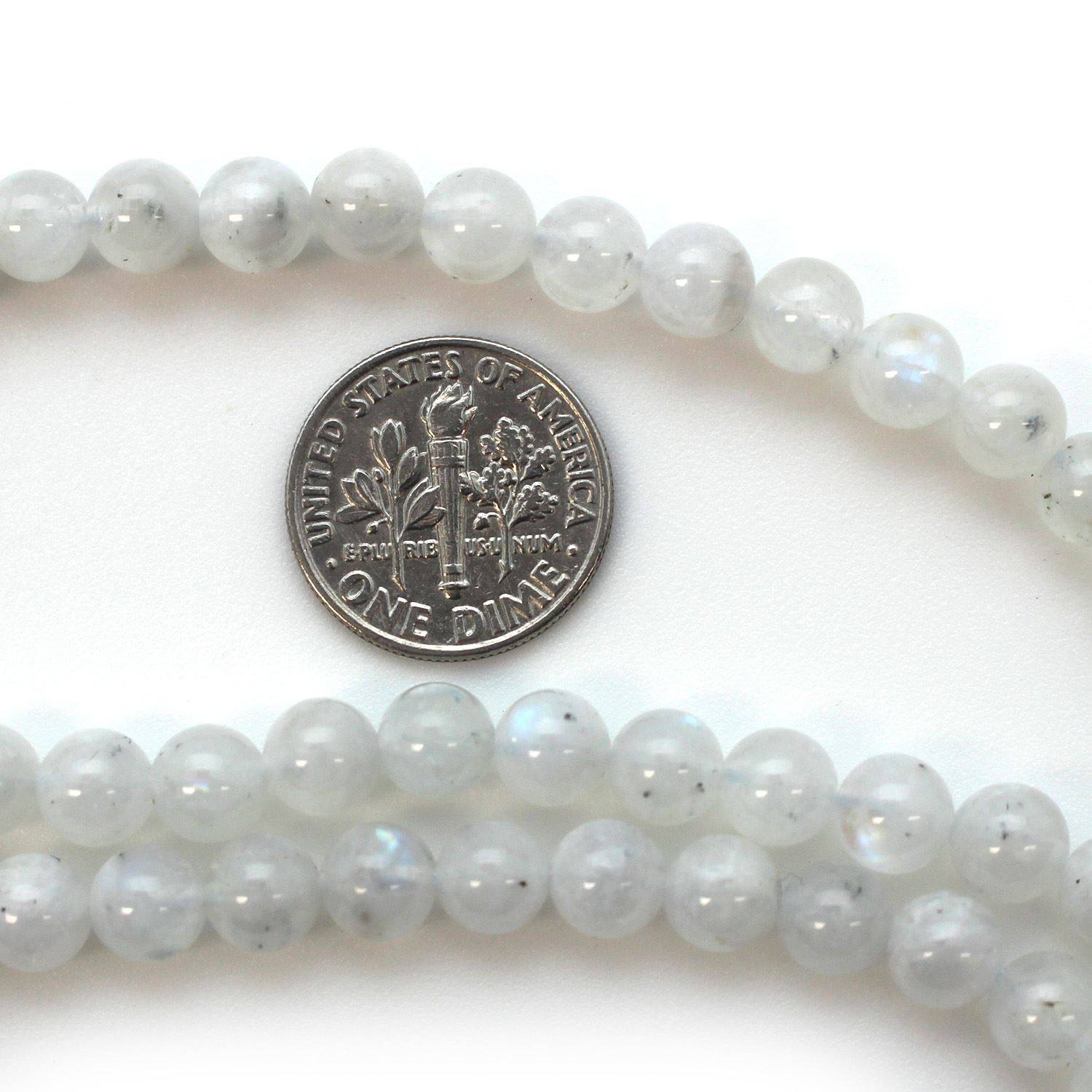 Smooth Round Moonstone Beads - 6.5mm (Sold Per Strand)
