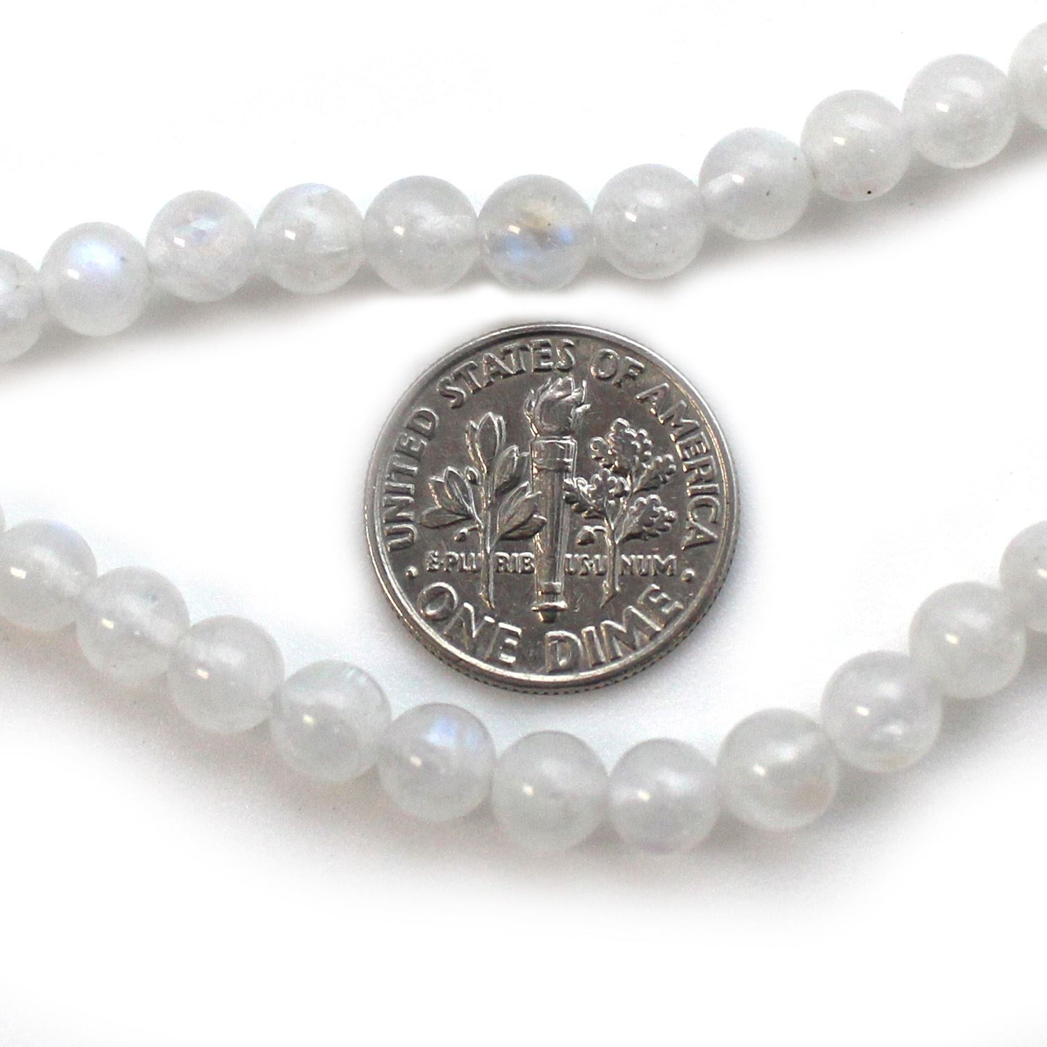 Smooth Round Moonstone Beads - 5.5mm (Sold Per Strand)