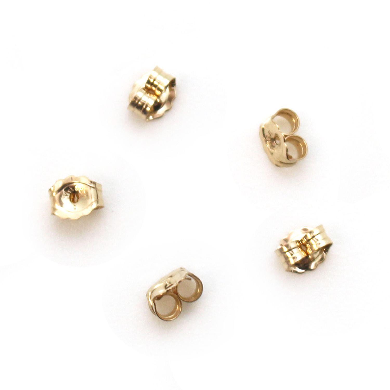 1/20 14K Gold Filled Butterfly Earring Post Backs Earnuts (5 pairs)