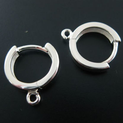 Sterling Silver Earring Hoop With Ring- 14mm (sold per pair)