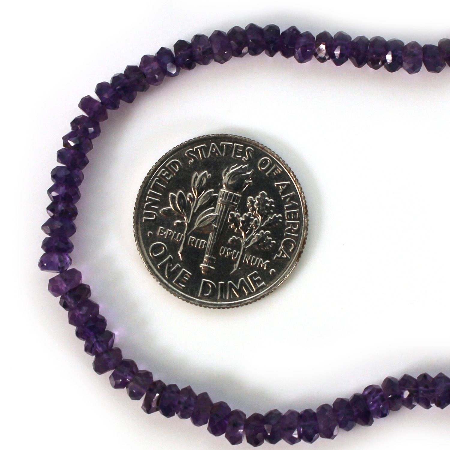 Gemstone beads - Amethyst Faceted Rondelle - 2.5- 3mm - 13.5 inches full strand