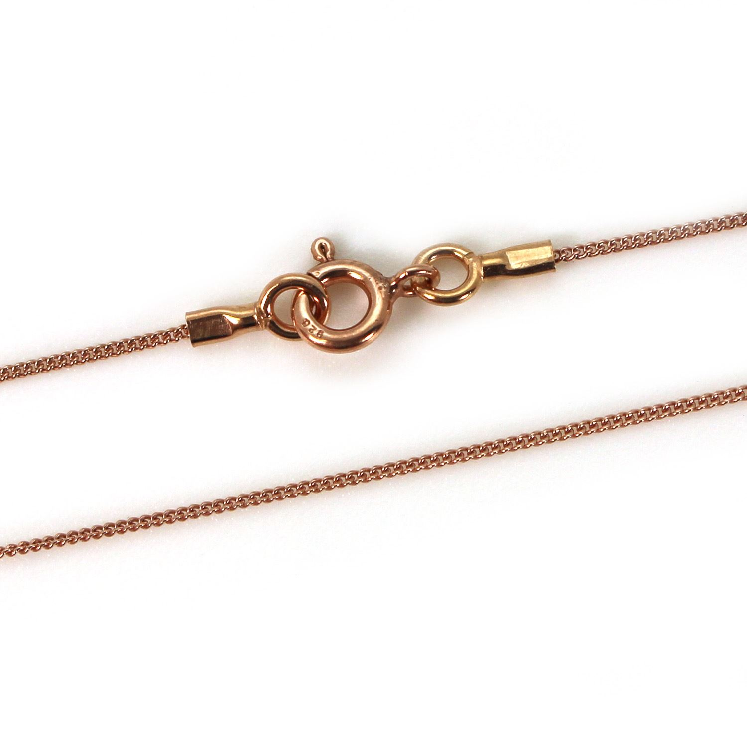 Rose Gold Plated Necklace Chain - Tiny Curb Chain - 16-36 inches
