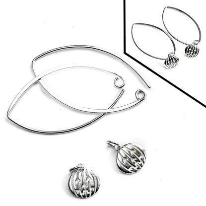Sterling Silver Marquise Jack-O-Lantern Earring DIY Kit