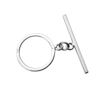 Sterling Silver Simple Round Toggle with Bar (1 Set)