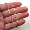 Gold Over Sterling Silver Chain-18X 5.5 Diamond Cut Oval Chain - Unifinished Bulk Chain (sold per foot)