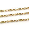 Gold Over Sterling Silver Chain-3.2mm Diamond Cut Rolo Chain - Unifinished Bulk Chain (sold per foot)