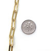 Gold Over Sterling Silver Chain- Textured Rectangle Long Box Link (sold per foot)