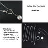 Sterling Silver Pearl Lariat Necklace DIY Kit